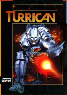 The 8-bit and 16-bit classic Turrican game had great cover artwork by the German/Turkish artist Celal Kandemiroglu.