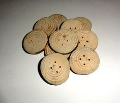 10 Wooden Buttons Rustic Natural Buttons Craft by NayasArt on Etsy Button Image, Handmade Home Decor, Handmade Gifts, Knitting Supplies, Button Crafts, Craft Supplies, Jewelry Supplies, Buttons, Rustic