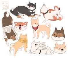 Echa un vistazo a este proyecto @Behance: \u201cshiba puppies!\u201d https://www.behance.net/gallery/47940983/shiba-puppies