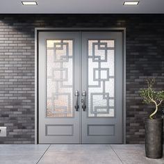 best ideas for a contemporary gray entrance at the front best ideas for the modern gray front door entrance Modern Front Doors We Love Right Now 10 Modern Front Doors We Lo Iron Front Door, Modern Front Door, Glass Front Door, Front Doors, Front Entry, Grill Gate Design, Door Gate Design, Front Door Design, Double Door Design
