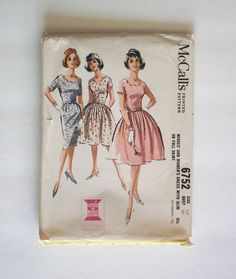 1960s Vintage McCall's sewing pattern 6752 size 18 by ResourcefulGoods