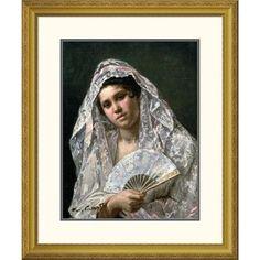 "Global Gallery 'Spanish Dancer' by Mary Cassatt Framed Painting Print Size: 26"" H x 22.19"" W x 1.5"" D"