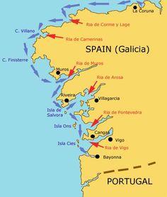 Passagemaking through the Rias Bajas of Galicia, Northern Spain