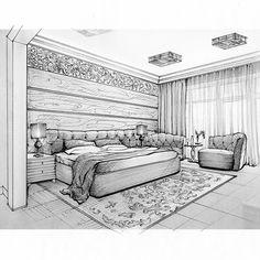 Эскиз спальни в стиле арт-деко #эскиз #интерьерспальни #интерьер #интерьеры #эскизспальни #дизайнинтерьера #interiorlovers #interiordesign #design #interior #interiors #beautifulinteriors #instainterior #sketch #instadesign #decor #decorating