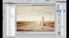 Vintage Processing and adding Clouds in Photoshop by Florabella Collection. Demonstration of a vintage processing style using Florabella Classic Workflow Photoshop Actions and Hazy Skies Cloud overlay.