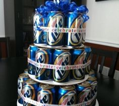 beer cake for the groom