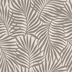 Italian III (39064) - Albany Wallpapers - A heavy weight vinyl with a fabric weave texture and a palm leaf all-over pattern.  Available in 4 colours shown in the dark chocolate brown on stone grey. Please request sample for true colour match.