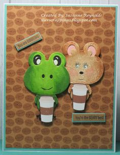 I Luv Scrapping Too: You Are Ribbiting - You're the Beary Best Candy Awards, Hot Chocolate Images, Small Plastic Bags, Copic Sketch, Brush Pen, Summer Drinks, Craft Stores, I Card, Card Stock