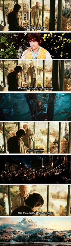 """""""But age, it seems, has finally caught up with me""""-- mind blow! Didn't catch this! Of course, I saw/read LotR before Hobbit"""