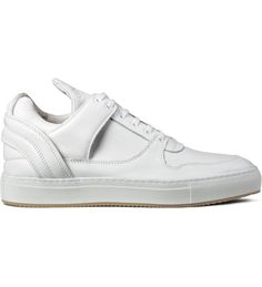 Filling Pieces White Grain Leather Low Top Tranformed Shoes