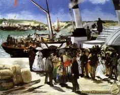 Partida del barco de Folkestone - Obra - Edouard Manet, 1867