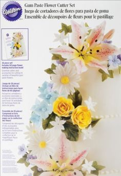 Wilton Gum Paste Flowers Set- Discontinued By Manufacturer -- Startling big discounts available here : baking desserts recipes