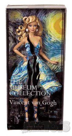 Barbie Museum Collection Van Gogh - Got it. Christmas present 2013 Beautiful Barbie Dolls, Barbie Dream, Vintage Barbie Dolls, Castle Dollhouse, Online Toy Stores, Chinese Patterns, Priscilla Presley, Disney Dolls, Barbie Collector