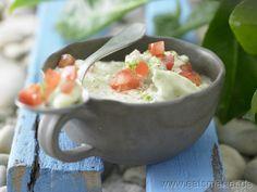 Avocado-Dip - smarter - mit Tomatenwürfeln. Kalorien: 98 Kcal   Zeit: 15 min. #sauce