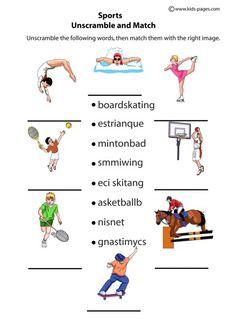 sport worksheets for kids choice b w worksheet sports index printable worksheet pdf version. Black Bedroom Furniture Sets. Home Design Ideas