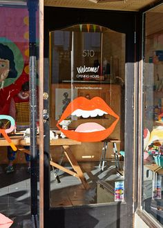 Lips + Door