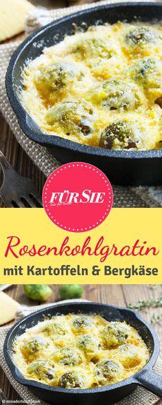 Ihr mögt Chicoree? Dann solltet ihr unbedingt unser Rosenkohlgratin mit Gorgonzola und Birnen probieren!