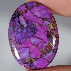 42.15Cts. RARE~ NATURAL SPIDER WEB PURPLE TURQUOISE OVAL CABOCHON LOOSE GEMSTONE