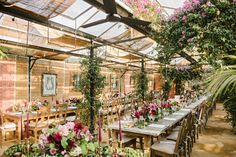 Botanical babes be warned - this English garden wedding styled by Liz Linkleter and photographed by Dominique Bader may just steal your heart. Greenhouse Wedding, Garden Wedding, Richmond Hill Hotel, Vertical Vegetable Gardens, Vegetable Gardening, Container Gardening, Late Summer Weddings, Potager Garden