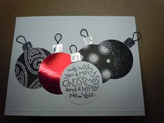 Chirstmas cards for soldiers - Christmas Balls by nanofish2003 - Cards and Paper Crafts at Splitcoaststampers
