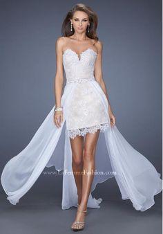 La Femme Lace Bodice Dress 19749