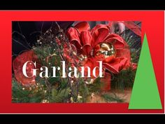 GREAT ROBESON DESIGN VIDEO▶ How to decorate a Garland.( line up the middle of your lights w/ the middle of your garland & work the lights from the center out both ways