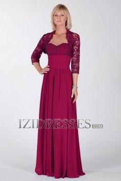 Sheath/Column Sweetheart Spaghetti Straps Chiffon Mother of the Bride Dresses - IZIDRESSES.com
