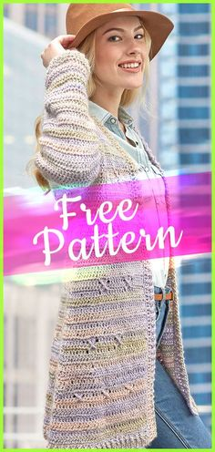 Around Town Cardigan #crochetpattern #easycrochet #freecrochet #patternfree