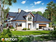 Bildergebnis für dom w jastrunach New House Plans, Modern House Plans, Modern House Design, Casas Country, Architectural House Plans, Exterior House Colors, Design Case, Pool Houses, Home Fashion