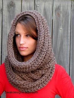 Chimenea sobredimensionada grueso lana con capucha por SWAKCouture