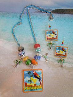 margaritaville jimmy buffett parrothead tropical margarita necklace earring set. $24.00, via Etsy.