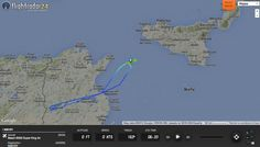 Here's where U.S. spyplane N351DY sought Bardo Museum terrorists on Mar. 22