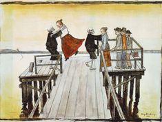 Devil Pot Hugo Gerhard Simberg was a Finnish symbolist painter and graphic artist. The two characters Simberg used mos. Gerhard, Danse Macabre, Post Impressionism, Art Archive, Vintage Artwork, L'oréal Paris, Hugo, Fantastic Art, Memento Mori