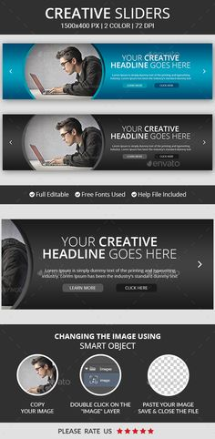 Creative Business Slider Template PSD. Download here…