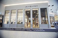 Jack & Jones store by Riis Retail, Kolding – Denmark.  I love the windows & carpet!