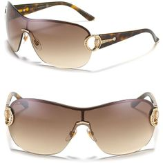 7ea1cc1d19 Gucci Gradient Shield Sunglasses with Crystal Bridle Temple - ShopStyle