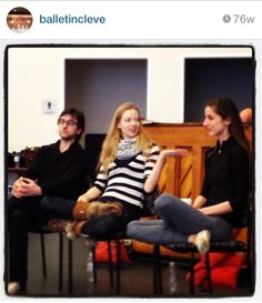 PA ballet friends- all Pittsburgh past and present residents: Allison DeBona, Julia Erickson, and Aaron Ingley. Who says Pittsburgh and Cleveland can't get along??? :) March 2013- from our very first master class!