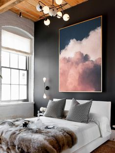 Cloud Painting Print Cloud Print Cloudscape Art Print Large