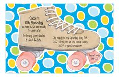 It's your little girl's 8th birthday and you're looking for a cute party idea. How about throwing the little one a skating party? Skating parties can be perfect ideas for girls or boys. This Turquoise Skating Invitation from Picture Perfect is the perfect fit. The blue background with green and yellow polka dots give this invitations a retro feel. That's just like how skating rinks feel to us as adults. I remember my birthday party I had in 6th grade at Big Wheel Skating Rink. Now you have…