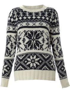 Linea Weekend Ladies knitted snowflake jumper Cream - House of Fraser