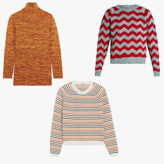 Alessandra Codinha, Vogue.com Fashion News Editor - I am perpetually on the hunt for the perfect chunky white turtleneck. It's my white whale . . . I always love Bella Freud's cool-girl graphic knits; and I'm long overdue at Nili Lotan, for her latest comfortable spin on the classics. But really, my fall vibe is typically somewhere around '70s babysitter, and for that, Miu Miu is pretty on the money. Miu Miu striped wool-blend sweater, $685, net-a-porter.com Miu Miu wool-, alpaca-, and…