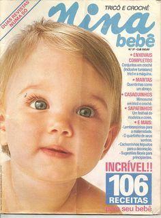 Revista Trico e Crochê NINA Bebê -Enxovais completos -conjunto em crochê -trico a maquina -Mantas quentinhas como um abraço-casaquinhos -mi...