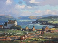 GRAZING BY THE BAY by John C. Traynor 26,000.00 (2014) Oil on Canvas  SKU: JCT 026 | 30 x 40 (39.5 x 49.5 framed)  Professionally framed in a classic, antiqued, custom gold leaf frame.