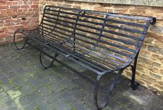 Image result for victorian metal garden bench