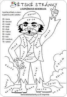 Loupežnická násobilka: Color By Numbers, Math Activities, Mandala, 1, Education, Advent, Colors, Autism, School