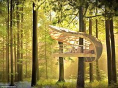 http://www.bebarang.com/very-unique-and-imaginative-cool-tree-houses/ Very Unique and Imaginative Cool Tree Houses : Luxury Cool Tree Houses Villa BIEICONS Cool Tree Houses