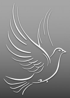 Dove – Art & Islamic Graphics Fabric Painting Tutorial: In this particular tutorial we'll provide yo Bird Stencil, Stencil Art, Stencil Patterns, Stencil Designs, Cut Out Art, Bird Silhouette, Black Silhouette, Glass Engraving, Animal Graphic