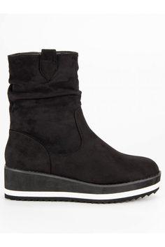 Čierne topánky na opätku Primavera Chelsea Boots, Wedges, Ankle, Shoes, Fashion, Moda, Zapatos, Wall Plug, Shoes Outlet