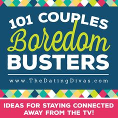 The best list of ideas for staying connected to your spouse instead of your TV! These boredom busters will keep couples entertained absolutely any time!