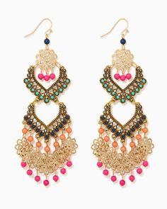 charming charlie | Island Fiesta Chandelier Earrings | UPC: 400000267920 #charmingcharlie